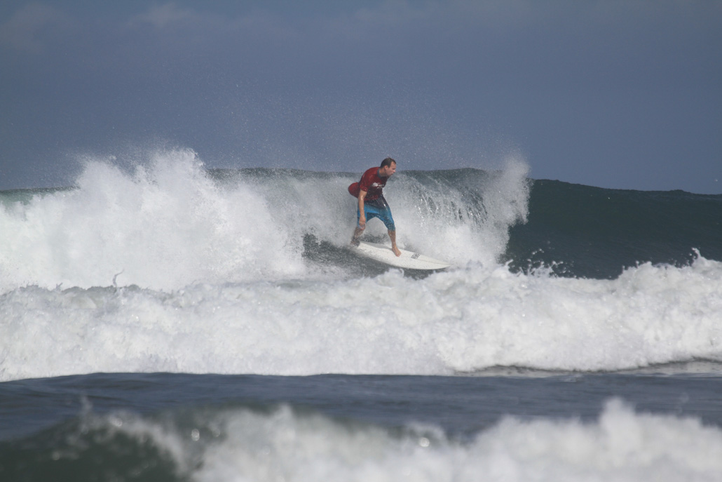 Surfing at Playa Guiones, Costa Rica