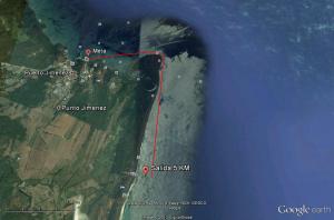 Gulfo Dulce 5km Swim route